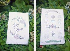 Wedding programs made by the wonderful @Nicole Chin for my beautiful friend Jana's wedding! Enjoy!