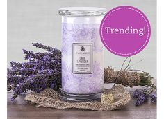 Calm Lavender Candle-comment below if you want one! My friend is selling and they're goin quick!!