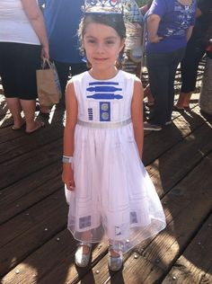 Princess R2-D2. Also would make a cute flower girl dress for a Star Wars wedding.