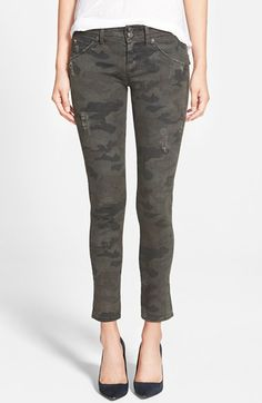 Hudson Jeans 'Collin' Ankle Skinny Jeans (Camo Print) available at #Nordstrom
