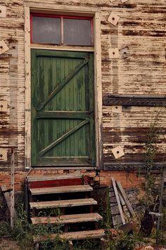 Old green door (photo taken by Jayna Rice)