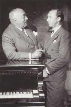 Paul Poiret et le photographe Boris Lipnitzki, photo Boris Lipnitzki, Paris, 1929