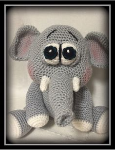 Crocheted elephant Find on etsy @memawscountrycrafts