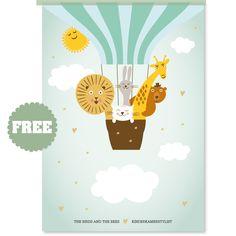 abc poster met nederlands alfabet - poster (wform) | wform | gras, Deco ideeën
