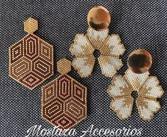 Beaded Earrings Patterns, Peyote Patterns, Seed Bead Earrings, Diy Earrings, Beading Patterns, Bead Embroidery Jewelry, Earring Tutorial, Bead Art, Bead Weaving