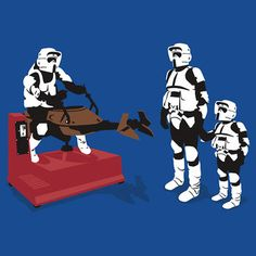 Star Wars shirt: Biker Scout Wannabe.
