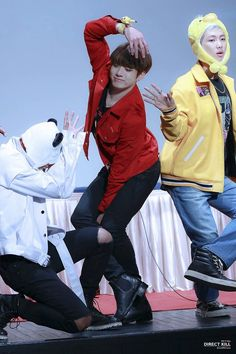 V Jungkook Rap Monster <<< Can some one who doesn't know who Bangtan is please explain what's happening in this picture?