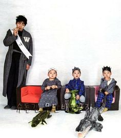 song il kook with triplets