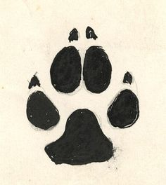 Wolf paw print. My next tattoo. Behind the ear. Had it planned for a long, long time.
