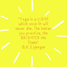 "Relationship to Privilege: Through this quote by Iyengar, I feel the sense of PRIVILEGE to be able to practice yoga, myself. Many times yoga teachers will say to you in class, ""be thankful for the time to be able to practice."" The idea that not all people have the time."