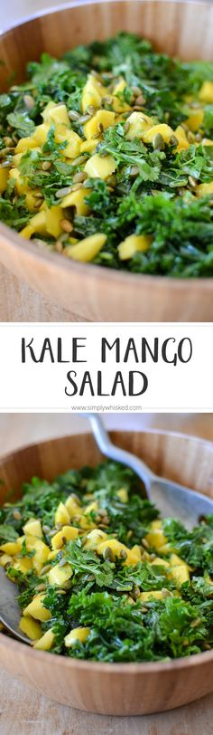 Kale Mango Salad   This is seriously the best kale salad ever!