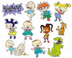 Rugrats SVG Collection - Rugrats Svg - Rugrats Clipart - SVG Files for Silhouette Cameo or Cricut, R Rugrats Cartoon, Rugrats Characters, School Cartoon, 90s Cartoons, Crazy Nail Art, Tattoo Flash Art, Comic, Childhood, Sketches