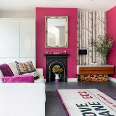 Open-plan seating area   1930s Surrey semi   House Tour   PHOTO GALLERY   Ideal Home   Housetohome.co.uk