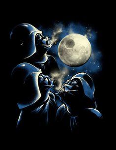 Star Wars t-shirt Darth Vader 3 Sith Moon  by VincentCarrozza