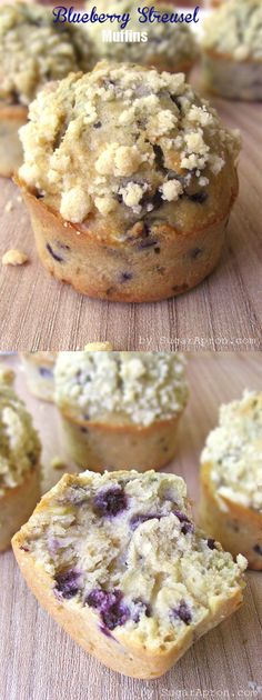 Blueberry Streusel Muffins  | www.sugarapron.com | #recipes #blueberry #muffins