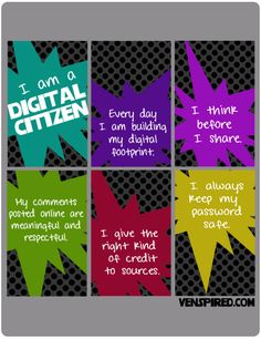 6 Good Classroom Posters on Digital Citizenhsip ~ Educational Technology and Mobile Learning