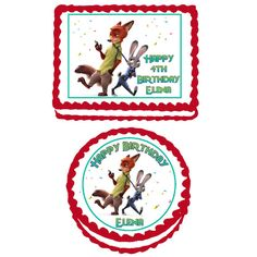 Zootopia  Edible Cake Cupcake or Cookie by TheCakeTopperZone