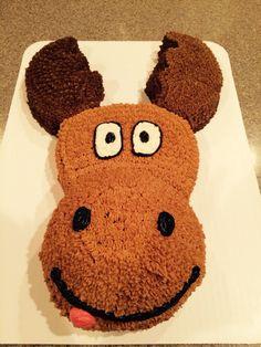 Moose cake Baby Boy 1st Birthday, First Birthday Parties, First Birthdays, Birthday Cake, Birthday Ideas, Moose Cake, Moose Decor, Buttercream Cake, Craft Party