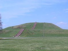 Cahokia Mounds State Historic Site - between East Saint Louis and Collinsville in SW Illinois.