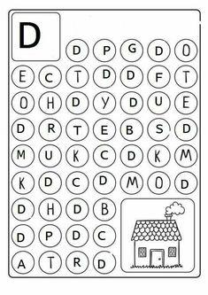 Alphabet Find and Dab Preschool Education, Preschool Curriculum, Preschool Learning, Kindergarten Worksheets, Preschool Activities, Alphabet Print, Alphabet For Kids, Speech Therapy Activities, Alphabet Activities