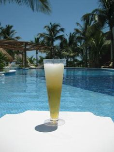 ICEBERG: Corona beer topped with a frozen margarita! Amazing! at the Excellence Playa Mujeres, Mexico.