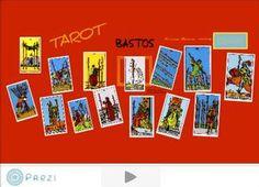 Presentación interactiva para aprender los significados de las cartas de bastos del Tarot