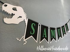Dinosaur Banner Dinosaur Birthday Banner Dinosaur Birthday