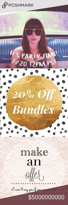 PARTY WITH ME As I Host My 2nd Posh Party!!!! PARTY WITH ME As I Host My 2nd Posh Party!!!! July 20th at 12 PM PST. Theme: TBD. Save 20% off bundles in my closet and MAKE AN OFFER! Accepting all reasonable offers! Great deals!!  Anthropologie Other
