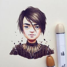 Arya Stark drawing by Lera Kiryakova