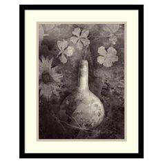 ''Gourd Ii'' Framed Wall Art, Black