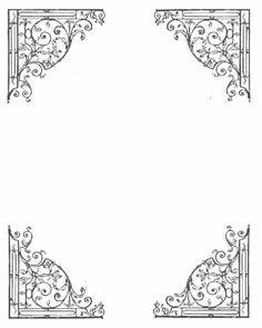 Book of Shadows Blank Templates Borders For Paper, Borders And Frames, Printable Frames, Pattern Coloring Pages, Frame Wreath, Wedding Card Design, Wicca, Pagan Witchcraft, Writing Paper