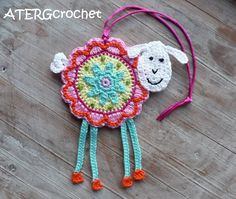 Colorful+crochet+'flower+sheep'+by+ATERGcrochet+by+ATERGcrochet,+€13.75
