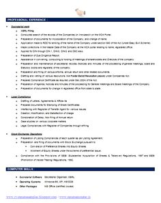 Company Secretary Resume Template (2)