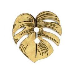 Leaf Shaped Button Made of Genuine Coconut Shell  -  fabric.com