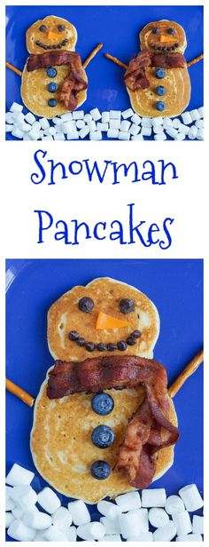 Simple but sweet. These Snowman Pancakes are perfect for this holiday weekend!