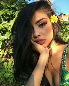 Shared by Kawter Zineb Belkhir. Find images and videos about makeup, brunette an… – beauty Makeup Goals, Makeup Inspo, Makeup Inspiration, Makeup Tips, Beauty Makeup, Hair Beauty, Makeup Style, Party Make-up, Pinterest Makeup