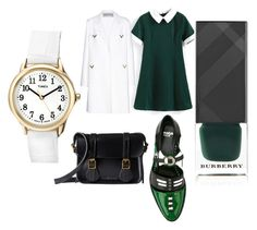 """""""Back To School Vibes"""" by leah3000 ❤ liked on Polyvore featuring Dr. Martens, Valentino, Timex and Burberry"""