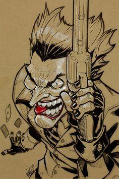 Joker by Artist Eddie Nunez Comic Book Characters, Comic Character, Joker Wallpapers, Joker Art, Desenho Tattoo, Batman Universe, Joker And Harley Quinn, The Villain, Skull Art