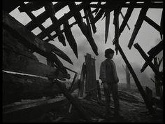 movie still: Ivan's Childhood (1962, dir. Andrei Tarkovsky)