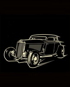 poster Art hot rod rockabilly by on DeviantArt – En Güncel Araba Resimleri Carros Retro, Cool Car Drawings, Rockabilly Art, Drawing Machine, Pinstriping Designs, Old School Cars, Garage Art, Car Illustration, Black Paper