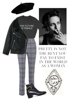 """""""The future is female"""" by flyawaygico ❤ liked on Polyvore featuring Motherhood Maternity, Off-White, Gucci, feminism and fashionset"""