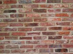 Reclaimed Thin Brick Veneer and Floor Tile Brick Tiles, Brick Flooring, Brick Siding, Kitchen Flooring, Floors, Thin Brick Veneer, Brick Face, Stone Farms, Recycled Brick
