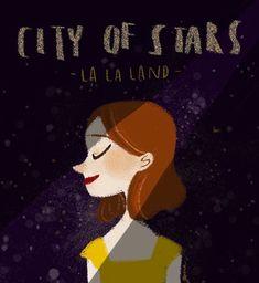 La alegre sonrisa de Mia. | 26 Hermosas ilustraciones que sólo apreciarás si amaste 'La La Land'