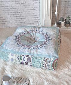 Look at this #zulilyfind! Monika Strigel Trip to Happiness Blue Floor Pillow #zulilyfinds