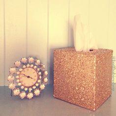 Glitter Tissue Box Bling Office Decor by buffbabiesshop on Etsy, $25.00