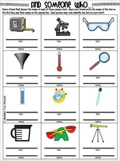 Worksheets Scientific Tools Worksheet heres a foldable on simple tools used in conducting science this product will give your students many different engaging ways to explore the uses of various scientific and their importance
