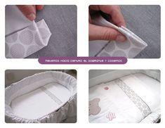 sabanas moises DIY 8 Cómo hacer un juego de sábanas para moisés o cochecito Baby Sheets, Baby Supplies, Diy Pillows, Baby Crafts, Baby Shop, Baby Sewing, Baby Patterns, Kids Bedroom, Sewing Projects