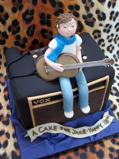 Guitar amp birthday cake