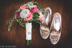 Wedding Shoes, Wedding Bouquet, Bridal Bouquet, Sunset Cliffs Wedding Ceremony in San Diego, CA - for more ideas and wedding photography inspiration, check out my blog! www.britjaye.com/... #sandiegoweddingphotography #weddingphotography #weddingphotos #weddingphotographer