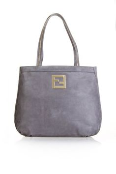 Fendi Ladies' Tramezza Vitello Handbag In Gray - This would truly be an extravagant purchase for me